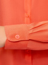 Блузка базовая из вискозы oodji #SECTION_NAME# (оранжевый), 11411136B/26346/5500N - вид 5