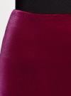 Юбка-карандаш бархатная oodji #SECTION_NAME# (розовый), 24101048-2/46056/4900N - вид 4