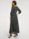 Платье макси на пуговицах oodji для женщины (черный), 11901148/24681/2952F
