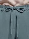 Брюки зауженные на завязках oodji для женщины (зеленый), 11709038-3/46955/6C00N