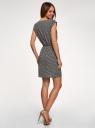 Платье вискозное без рукавов oodji #SECTION_NAME# (черный), 11910073B/26346/2912G - вид 3