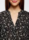 Блузка принтованная из вискозы oodji #SECTION_NAME# (черный), 21412143-1/42127/2933F - вид 4