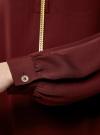 Блузка из струящейся ткани с металлическим украшением oodji #SECTION_NAME# (коричневый), 21414004/45906/4900N - вид 5