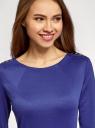 Платье с металлическим декором на плечах oodji #SECTION_NAME# (синий), 14001105-2/18610/7500N - вид 4