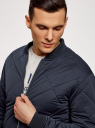Куртка-бомбер на молнии oodji #SECTION_NAME# (синий), 1L111031M/47669N/7900N - вид 4