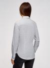 Рубашка хлопковая с нагрудным карманом  oodji #SECTION_NAME# (белый), 13K03013-1/36217/1029D - вид 3