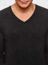 Пуловер базовый из вискозы с V-образным вырезом oodji #SECTION_NAME# (черный), 4L212140M/39795N/2900N - вид 4
