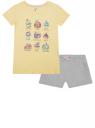 Пижама хлопковая с принтом oodji для женщины (желтый), 56002217-3/46158/5020P