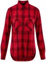 Рубашка клетчатая из вискозы oodji #SECTION_NAME# (красный), 13L11007/47701/4529C