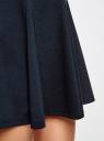 Юбка трикотажная расклешенная oodji #SECTION_NAME# (синий), 14102001B/38261/7900N - вид 5