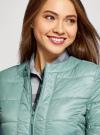Куртка стеганая с круглым вырезом oodji для женщины (зеленый), 10203050-2B/47020/6C01N - вид 4