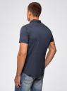 Рубашка приталенная с мелкой графикой oodji #SECTION_NAME# (синий), 3L410114M/48244N/7975G - вид 3