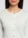 Жакет вязаный с рукавом 3/4 oodji #SECTION_NAME# (белый), 63212578/42506/1200N - вид 4
