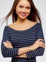 Платье облегающее с вырезом-лодочкой oodji #SECTION_NAME# (синий), 14017001-1/37809/7912S - вид 4