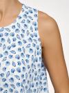 Топ двуслойный из струящейся ткани oodji #SECTION_NAME# (белый), 14911019/46796/1270O - вид 5