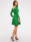 Платье трикотажное приталенное oodji #SECTION_NAME# (зеленый), 14011005B/38261/6E00N - вид 3
