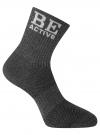 Комплект из трех пар спортивных носков oodji #SECTION_NAME# (серый), 57102811T3/48022/3 - вид 4