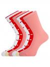 Комплект носков из 6 пар oodji для женщины (разноцветный), 57102901T6/47469/14 - вид 2