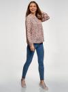 Блузка вискозная с отстрочками на груди oodji #SECTION_NAME# (розовый), 21411121/47075N/4029F - вид 6
