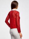 Блузка из кружева с декором на воротнике oodji #SECTION_NAME# (красный), 21411092-1/45967/4500N - вид 3