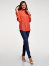 Блузка с нагрудными карманами и регулировкой длины рукава oodji #SECTION_NAME# (оранжевый), 11400355-9B/42807/5500N - вид 6