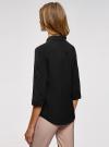 Блузка из струящейся ткани с нагрудными карманами oodji #SECTION_NAME# (черный), 11403225-6B/48853/2900N - вид 3
