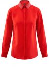 Блузка с декором на воротнике oodji #SECTION_NAME# (красный), 11403172-3/31427/4500N