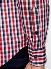 Рубашка приталенного силуэта в клетку oodji #SECTION_NAME# (красный), 3L110214M/39767N/4510C - вид 5