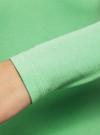 Футболка с длинным рукавом (комплект из 2 штук) oodji для женщины (зеленый), 24201007T2/46147/6500N - вид 4