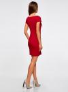 Платье трикотажное с вырезом-лодочкой oodji #SECTION_NAME# (красный), 14001117-2B/16564/4500N - вид 3