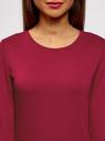 Свитшот базовый с рукавом 3/4 oodji #SECTION_NAME# (розовый), 14801021-3B/45493/4C00N - вид 4