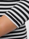Футболка в полоску с длинным рукавом oodji для женщины (белый), 14201005/42882/1029S