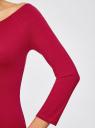 Платье облегающее с вырезом-лодочкой oodji #SECTION_NAME# (красный), 14017001-6B/47420/4901N - вид 5