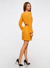 Платье из шифона с ремнем oodji для женщины (желтый), 11900150-5B/32823/5200N - вид 3