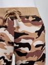 Брюки трикотажные на завязках oodji для женщины (коричневый), 16701042-2B/46919/3933O