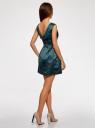 Платье приталенное с V-образным вырезом на спине oodji #SECTION_NAME# (зеленый), 12C02005/24393/6C00N - вид 3
