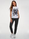 Комплект трикотажных брюк (2 пары) oodji #SECTION_NAME# (черный), 16700030-15T2/46173/2900N - вид 6