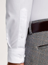 Рубашка приталенная с воротником-стойкой oodji #SECTION_NAME# (белый), 3B140004M/34146N/1000N - вид 5