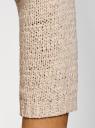 Джемпер базовый с вырезом-лодочкой oodji #SECTION_NAME# (бежевый), 63803046-5B/48953/3300N - вид 5