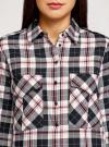 Платье-рубашка с карманами oodji #SECTION_NAME# (разноцветный), 11911004-2/45252/2912C - вид 4