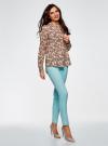 Блузка вискозная А-образного силуэта oodji #SECTION_NAME# (розовый), 21411113B/26346/5470E - вид 6