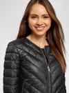 Куртка стеганая с круглым вырезом oodji для женщины (черный), 10203079/49439/2900B - вид 4