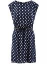 Платье принтованное из вискозы oodji #SECTION_NAME# (синий), 11910073-2/45470/7912D
