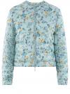 Куртка стеганая с круглым вырезом oodji для женщины (синий), 10203072B/42257/7019F