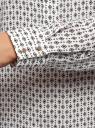 Блузка свободного силуэта с завязками oodji #SECTION_NAME# (белый), 21411094B/48854/1229R - вид 5