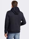 Куртка трикотажная утепленная с отделкой из искусственного меха oodji #SECTION_NAME# (синий), 5L911027M/44353N/7900M - вид 3