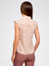 Блузка из ткани деворе oodji #SECTION_NAME# (розовый), 11405092-4/26528/4000N - вид 3