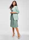 Жакет из фактурной ткани без застежки oodji для женщины (зеленый), 11207010-1/46742/7300N