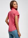 Рубашка базовая с коротким рукавом oodji #SECTION_NAME# (розовый), 11402084-5B/45510/4D00N - вид 3