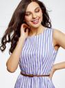 Платье с поясом без рукавов oodji #SECTION_NAME# (фиолетовый), 12C13008-1/46683/8012S - вид 4